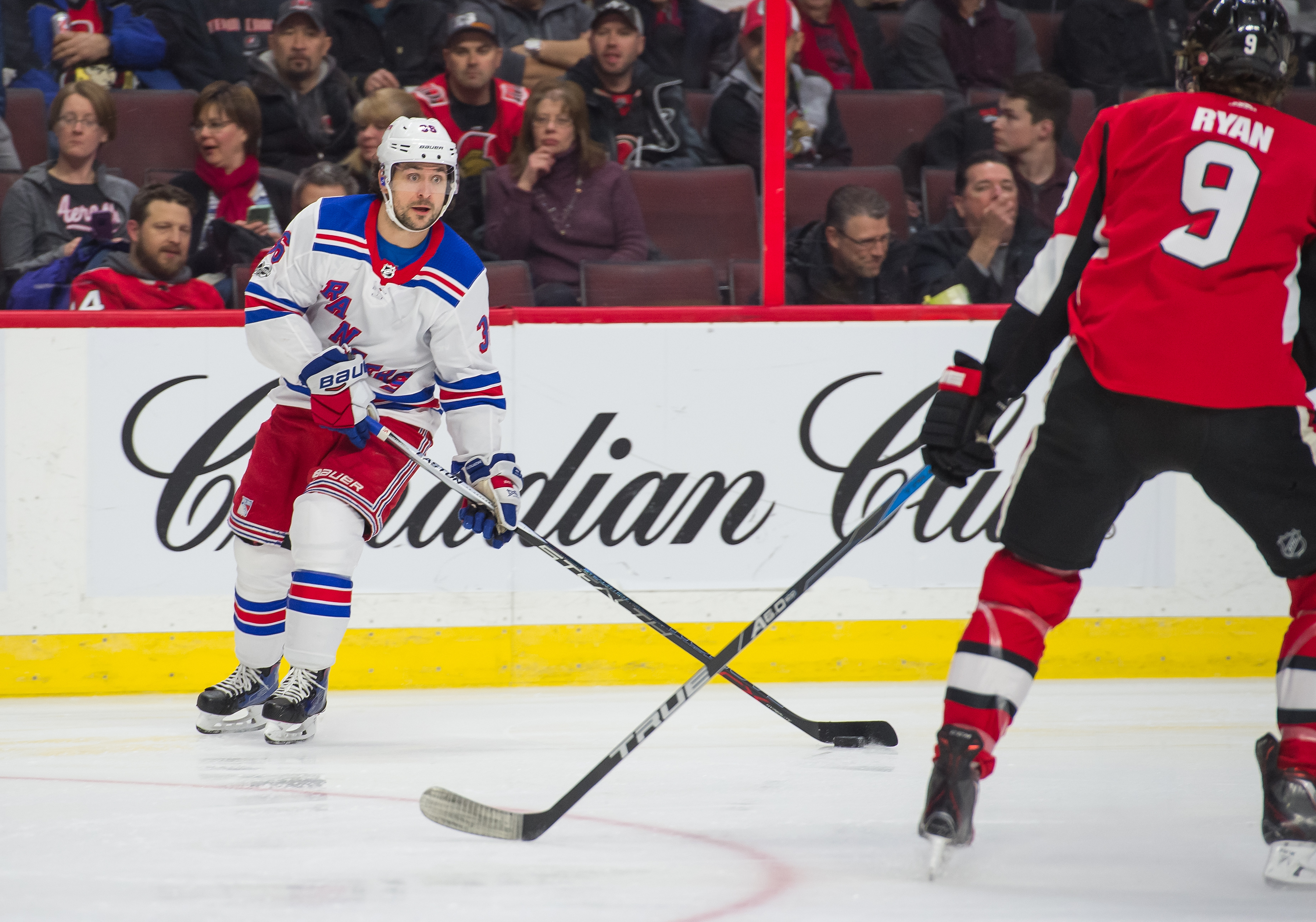 Henrik Lundqvist pulled again, Rangers' struggles continue in loss to Senators