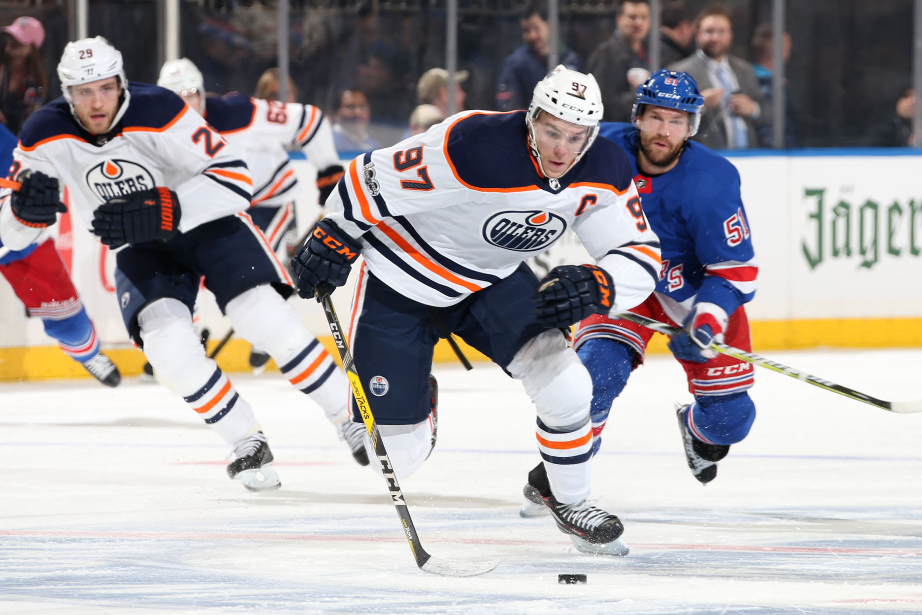 Oilers can't make up for slow start in loss to Rangers