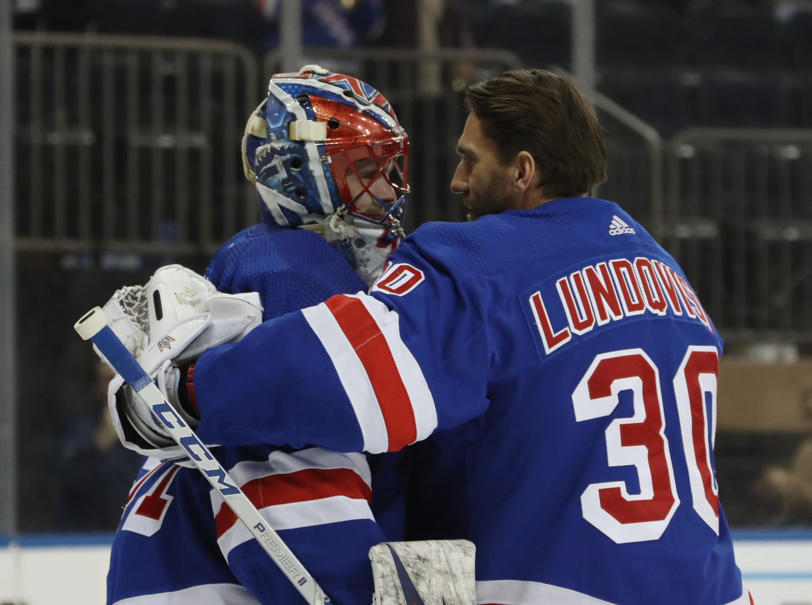 Do the Rangers have a goalie decision to make against Carolina?